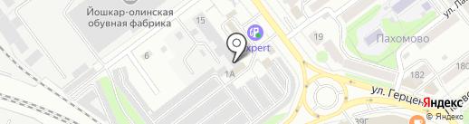 АвтоМаяк на карте Йошкар-Олы