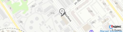 Йошкар-Олинская ТЭЦ-1, МУП на карте Йошкар-Олы