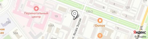 Эталон на карте Йошкар-Олы