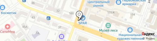 Spar на карте Йошкар-Олы