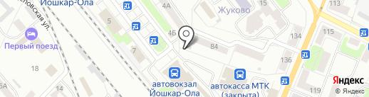 Гослото на карте Йошкар-Олы