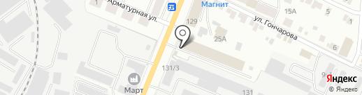Автобан на карте Йошкар-Олы