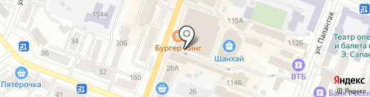 Глобус на карте Йошкар-Олы