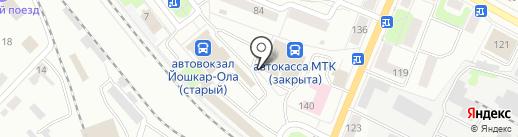 Скороход на карте Йошкар-Олы