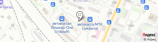Капитошка на карте Йошкар-Олы