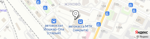 МТК на карте Йошкар-Олы