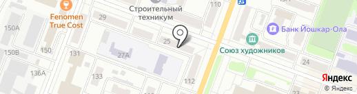 Лэкс на карте Йошкар-Олы