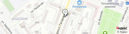 Салон цветов на карте Йошкар-Олы
