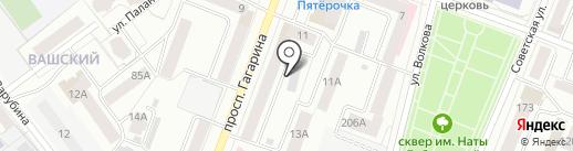 Поликлиника №1 на карте Йошкар-Олы
