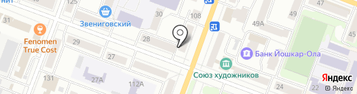 Октябрь, ТСЖ на карте Йошкар-Олы