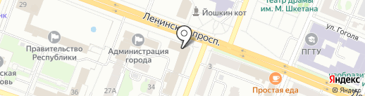 Межрегиональное бюро оценки и экспертизы на карте Йошкар-Олы