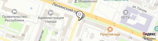 В12 на карте Йошкар-Олы
