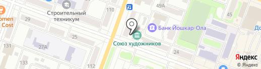 Копицентр на карте Йошкар-Олы