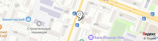 Магазин бижутерии на карте Йошкар-Олы