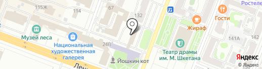 Земпроект на карте Йошкар-Олы