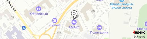 АМАКС Сити отель на карте Йошкар-Олы
