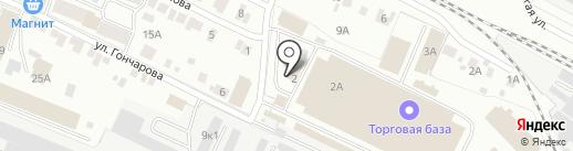 Сластена на карте Йошкар-Олы