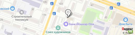 Инея на карте Йошкар-Олы