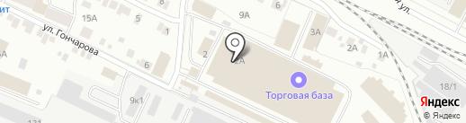 Тепличное на карте Йошкар-Олы