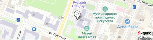 Лицей №11 им. Т.И. Александровой г. Йошкар-Олы на карте Йошкар-Олы