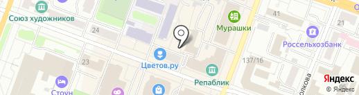 Типография Правительства Республики Марий Эл, ГУП на карте Йошкар-Олы