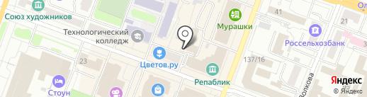Сотворение на карте Йошкар-Олы