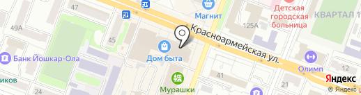 Букетная лавка на карте Йошкар-Олы