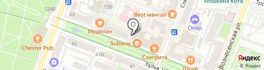 Блинная на карте Йошкар-Олы