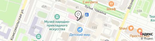 Автоколледж на карте Йошкар-Олы