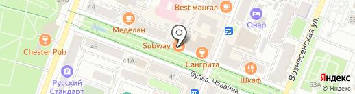 Астра-Сервис на карте Йошкар-Олы