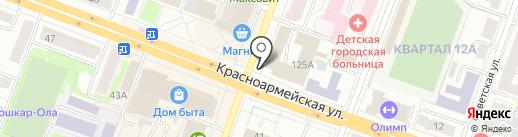 Наш компас на карте Йошкар-Олы