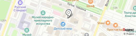 Благодать, КПК на карте Йошкар-Олы