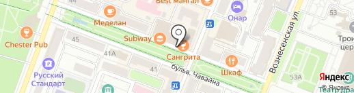 Мастерская по ремонту часов на карте Йошкар-Олы