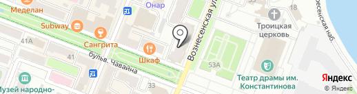 ИЮЛЬ на карте Йошкар-Олы