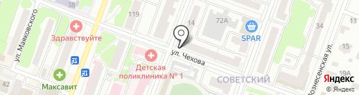 Чехова, 14, ТСЖ на карте Йошкар-Олы