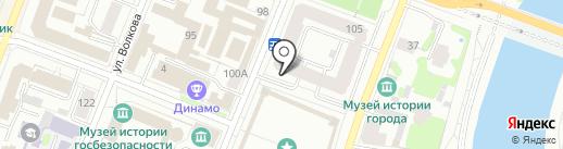 Евроокно на карте Йошкар-Олы