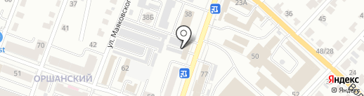 Автострада на карте Йошкар-Олы
