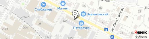 Луч и К на карте Йошкар-Олы