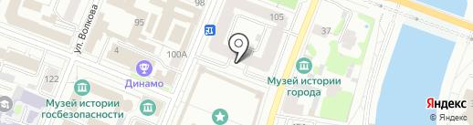 Вален`Ок на карте Йошкар-Олы