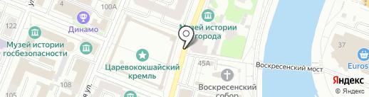Авто К-3 на карте Йошкар-Олы