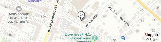 Сервис 12 на карте Йошкар-Олы