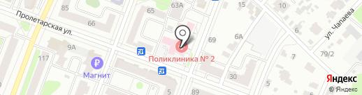 Поликлиника №2 г. Йошкар-Олы на карте Йошкар-Олы