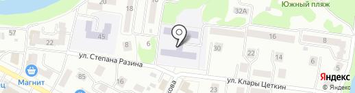 Средняя общеобразовательная школа №13 на карте Йошкар-Олы