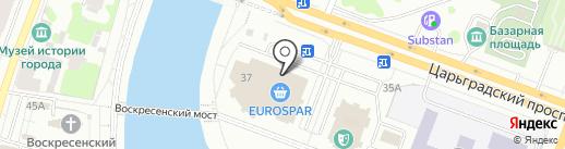 Диадема на карте Йошкар-Олы
