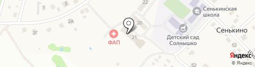Сеть продуктовых магазинов на карте Сенькино