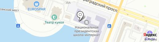 Национальная президентская общеобразовательная школа-интернат на карте Йошкар-Олы