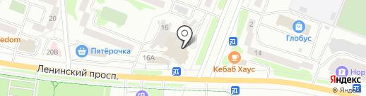 Бабочка на карте Йошкар-Олы