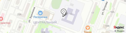Средняя общеобразовательная школа №1 на карте Йошкар-Олы