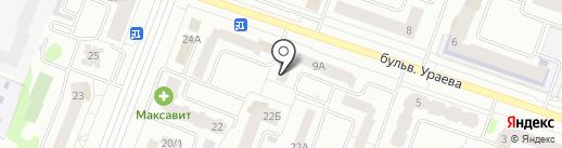 Янтарь, ЖСК на карте Йошкар-Олы