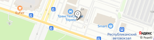 Участок кузовного ремонта на карте Йошкар-Олы